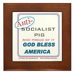 Anti-socialist Pig Framed Tile