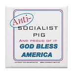 Anti-socialist Pig Tile Coaster