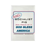 Anti-socialist Pig Rectangle Magnet (100 pack)
