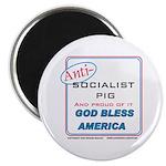 Anti-socialist Pig Magnet