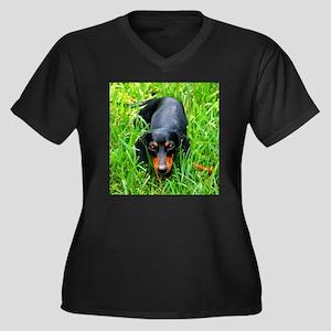 Stealth Dach Women's Plus Size V-Neck Dark T-Shirt