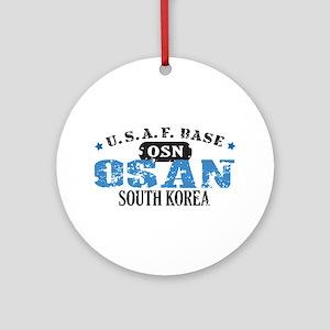 Osan Air Force Base Ornament (Round)