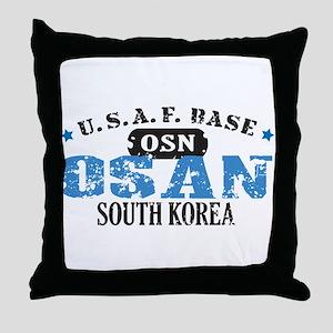 Osan Air Force Base Throw Pillow