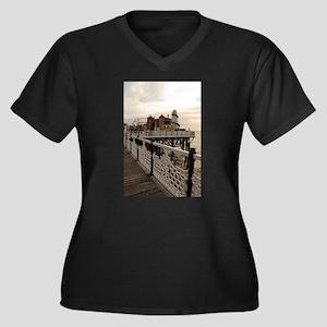 Brighton Women's Plus Size V-Neck Dark T-Shirt
