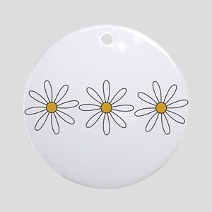 Daisies Ornament (Round)