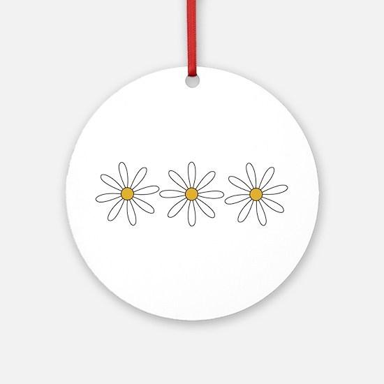 Daisies Ornament (Round)