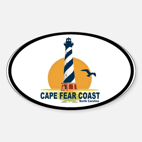 Cape Fear Coast NC Oval Decal