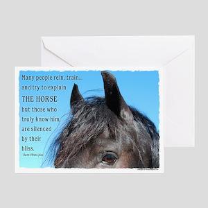 Friesian Bliss Greeting Card