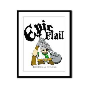 Epic Flail Framed Panel Print