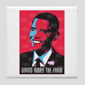 Barack Obama Art Tile Coaster