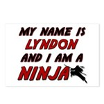 my name is lyndon and i am a ninja Postcards (Pack