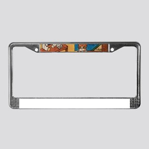 Court Case Cats License Plate Frame