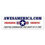 AwesAmerica Shameless Ad Bumper Sticker