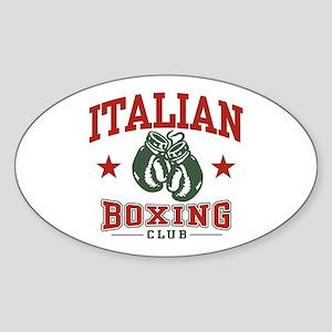 Italian Boxing Oval Sticker