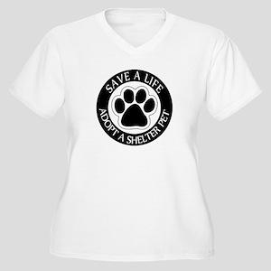 Adopt a Shelter Pet Women's Plus Size V-Neck T-Shi