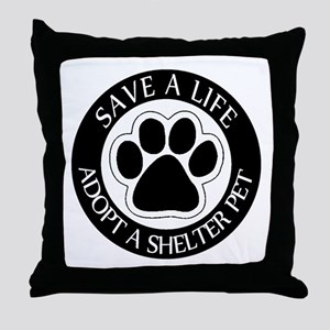 Adopt a Shelter Pet Throw Pillow
