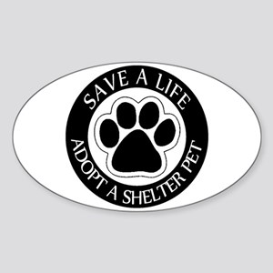 Adopt a Shelter Pet Oval Sticker