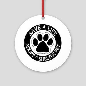 Adopt a Shelter Pet Ornament (Round)