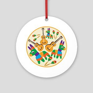 Cheerful Cinco de Mayo Ornament (Round)