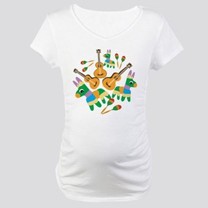 Cheerful Cinco de Mayo Maternity T-Shirt