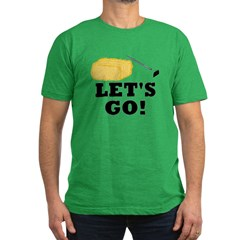 Hey! Ho! Let's Go! Men's Fitted T-Shirt (dark)