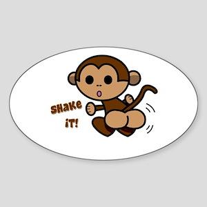 Monkey Shake Oval Sticker