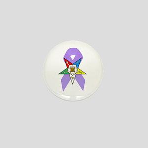 Eastern Star Cancer Awareness Mini Button