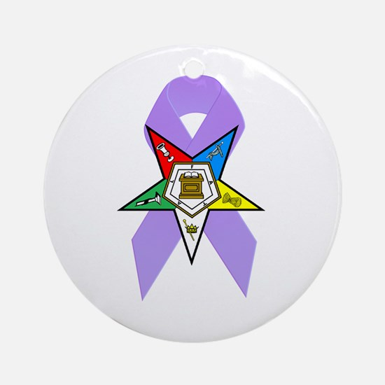 Eastern Star Cancer Awareness Ornament (Round)