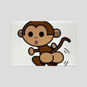 Monkey Shake Rectangle Magnet