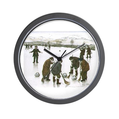 Wall Clock with curling print