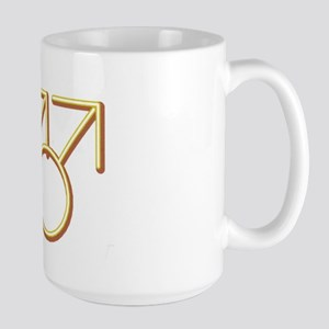 """Double Male Symbol"" Large Mug"