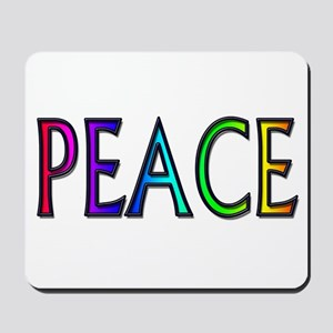 Peace word rainbow Mousepad
