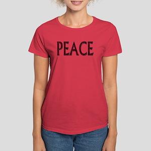 Peace word roses Women's Dark T-Shirt
