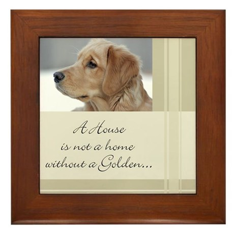 A House Is Not a Home Framed Tile