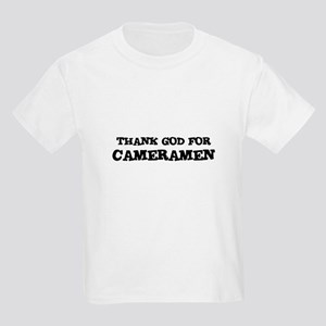 THANK GOD FOR CAMERAMEN  Kids T-Shirt