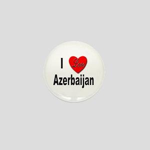 I Love Azerbaijan Mini Button