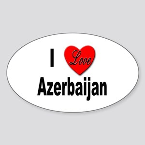 I Love Azerbaijan Oval Sticker