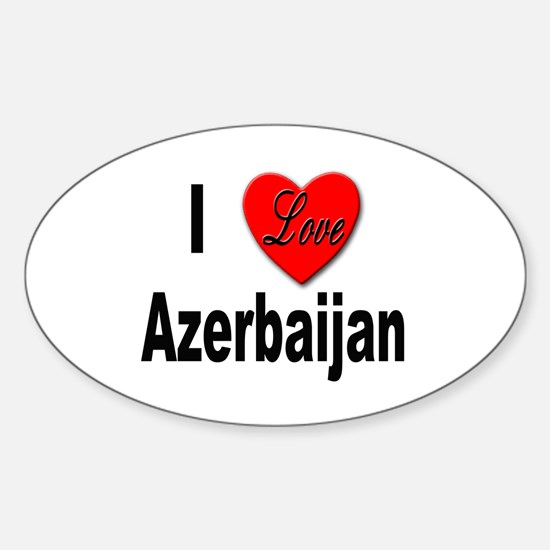 I Love Azerbaijan Oval Decal