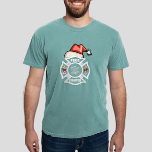 Firefighter Santa Women's Dark T-Shirt