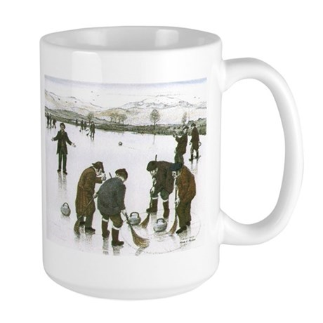 Large Mug with Curling Print