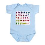 Rainbow Fingerspelled ABC Infant Creeper
