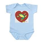 ASL Frog in Heart Infant Creeper