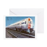 Amtrak Budd Metroliners Greeting Cards (10)