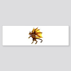 Yellow Dragon Bumper Sticker