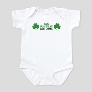 Croatia lucky charms Infant Bodysuit
