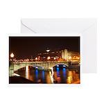 Nighttime on Bridge. Greeting Cards (Pk of 10)