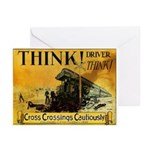 Cross Crossings Cautiously ! Greeting Cards (Pack