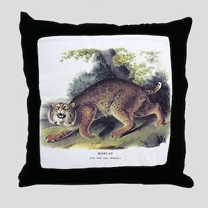 Audubon Bobcat Animal Throw Pillow