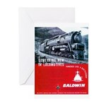 Baldwin S-2 Steam Locomotive Greeting Cards (Packa