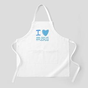 Blue I Heart (Love) Applesauc BBQ Apron